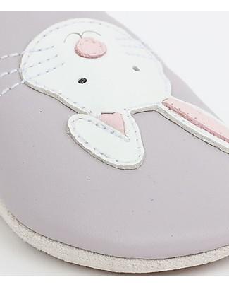Bobux Scarpina Soft Sole, Lilla con Coniglietto - La cosa migliore dopo i piedi scalzi!  Soft Sole Bobux