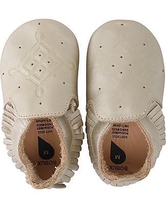 Bobux Scarpina Soft Sole Mocassino Oro - La cosa migliore dopo i piedi scalzi! Scarpe