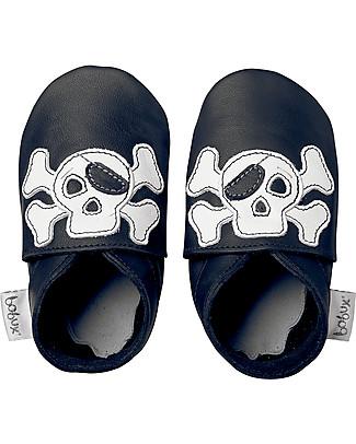 Bobux Scarpina Soft Sole, Nera con Pirata - La cosa migliore dopo i piedi scalzi! Scarpe