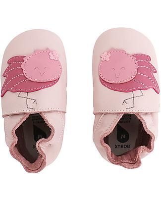 Bobux Scarpina Soft Sole, Rosa Chiaro con Fenicottero - La cosa migliore dopo i piedi scalzi! Soft Sole Bobux