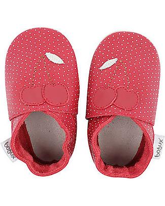 Bobux Scarpina Soft Sole, Rossa con Ciliegine - La cosa migliore dopo i piedi scalzi! Soft Sole Bobux