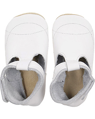 Bobux Scarpina Soft Sole, T-Bar Bianco - La cosa migliore dopo i piedi scalzi! Scarpe