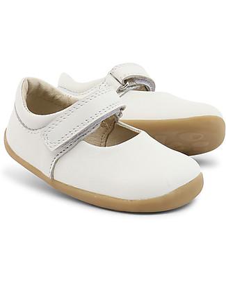 Bobux Scarpina Step-Up Classic Dance Mary-Jane, Bianco - Super flessibile, perfetta per i primi passi! Scarpe