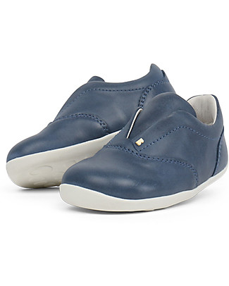 Bobux Scarpina Step-Up Duke, Blu Denim - Perfetta per Piedino Cicciottello! Scarpe