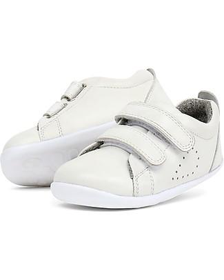 Bobux Scarpina Step-Up Grass Court Bianco - Super flessibile, perfetta per i primi passi! Scarpe
