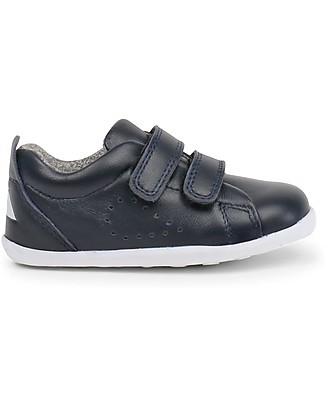 Bobux Scarpina Step-Up Grass Court, Blu Navy - Super flessibile, perfetta per i primi passi! Scarpe
