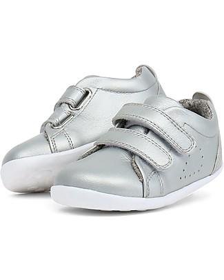 Bobux Scarpina Step-Up Grass Court, Silver - Super flessibile, perfetta per i primi passi! Scarpe