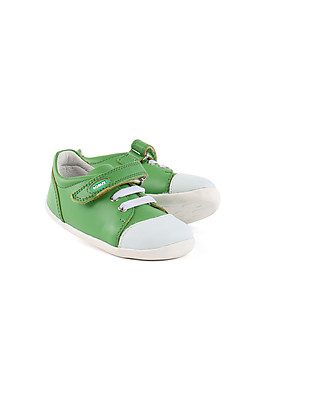 Bobux Scarpina Step-Up Scribble, Green – Super flessibile, perfetta per i primi passi! Scarpe