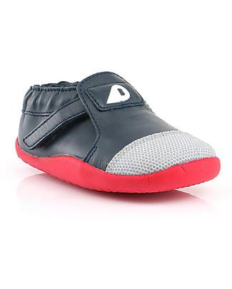 Bobux Scarpina Step-Up Xplorer Origin, Stampa Blu/Rosso - Super flessibile, ideale per giocare all'aperto! Scarpe