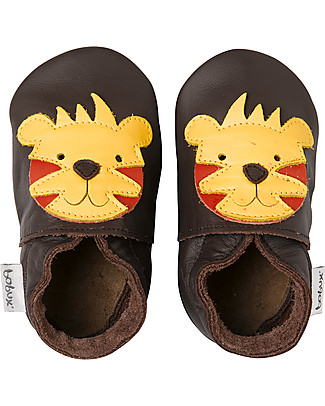 Bobux Soft Sole, Chocolate Colour with Tiger - The next best thing after bare feet! Shoes