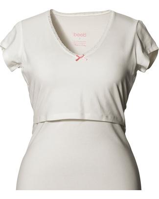 Boob Camicia da Notte Premaman e Allattamento - Bianco Avorio - Cotone Bio Camicie Da Notte