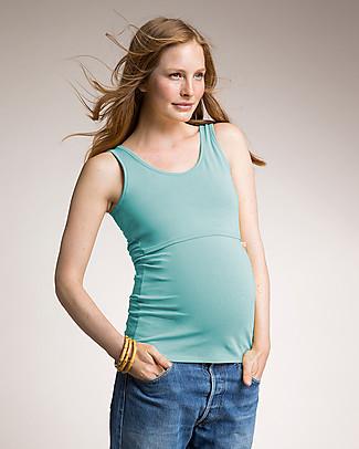 Boob Canottiera Premaman e Allattamento, Azzurro - Cotone Bio T-Shirt e Canotte