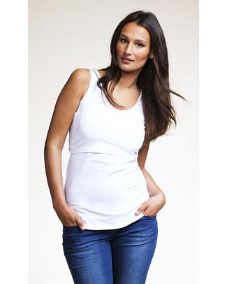 Boob Canottiera Premaman e Allattamento Bianca - Cotone Bio T-Shirt e Canotte