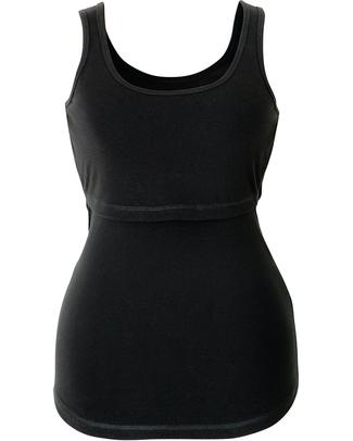 Boob Canottiera Premaman e Allattamento Nera - Cotone Bio T-Shirt e Canotte