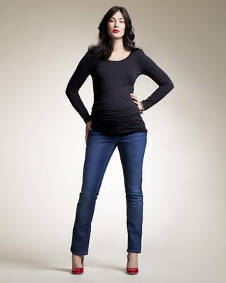 Boob Jeans Leggings Premaman Blu Scuro 'Treggings'  Jeans Premaman