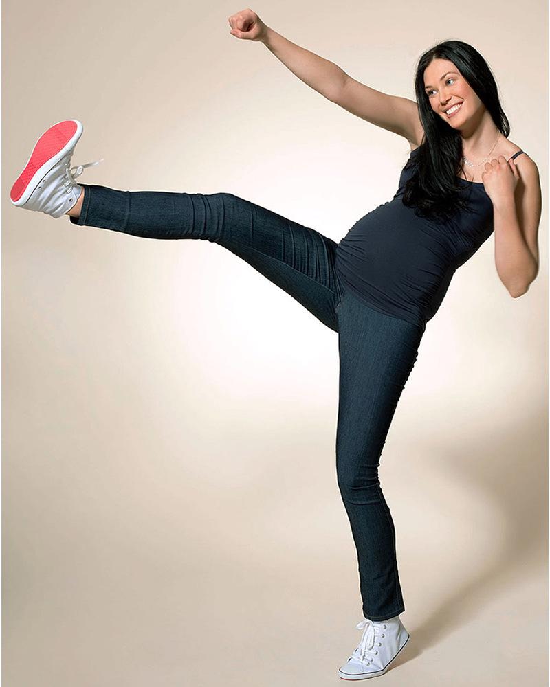 fdcbed619fd1 Boob Jeans Leggings Premaman Blu Scuro  Treggings  Jeans Premaman