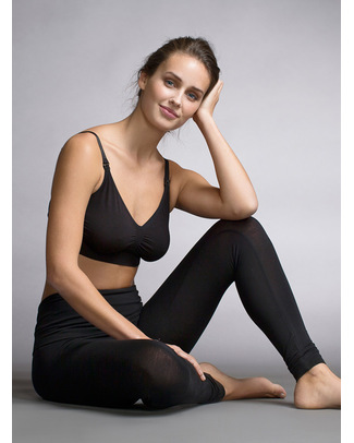 Boob Leggings Premaman e Post Parto - Nero, In fresca fibra di Eucalipto! Leggings