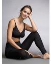 Boob Leggings Premaman e Post Parto - Nero (Nuovo Modello!! In fresca fibra di Eucalipto!) Leggings