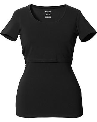 Boob Maglia Premaman e Allattamento, Nero - Cotone Bio T-Shirt e Canotte