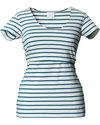 Boob T-Shirt Allattamento Lois - Righe Blu Petrolio - ULTIMA XS rimasta - Cotone Bio T-Shirt e Canotte