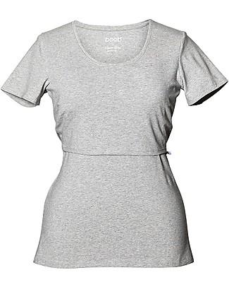 Boob T-shirt Premaman e allattamento Classic, Grigio Melange - Cotone bio Top