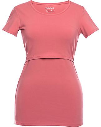 Boob T-shirt Premaman e allattamento Classic, Rosa Salmone - Cotone bio Top