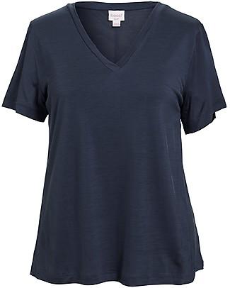 Boob T-shirt Premaman e Allattamento Scollo a V, Indaco - Fibra di Eucalipto T-Shirt e Canotte