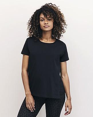 Boob The-shirt Maglia Maniche Corte Premaman e Allattamento con Apertura Laterale, Nero - 100% cotone bio T-Shirt e Canotte