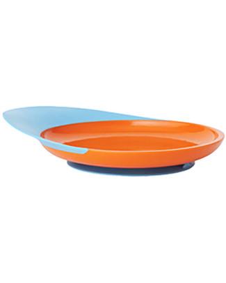 Boon Inc. CATCH Piatto Piano con ventosa e raccogli cibo - Blu & Arancione Piatti e Scodelle