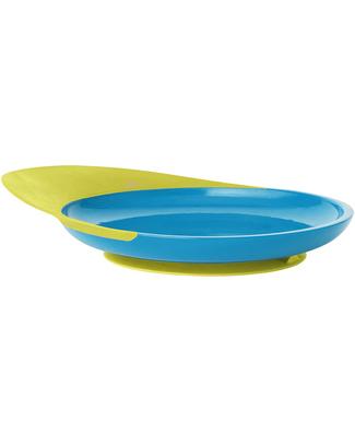 Boon Inc. CATCH Piatto Piano con ventosa e raccogli cibo - Blu & Verde null