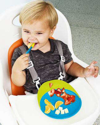Boon Inc. CATCH Piatto Piano con ventosa e raccogli cibo - Blu & Verde Piatti e Scodelle