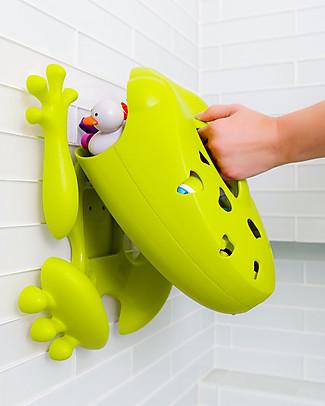 Boon Inc. Frog Pod Contenitore Portagiochi da Bagno - Nuovo Modello - Verde (senza BPA, PVC e Ftalati!) null