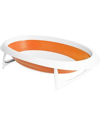 Boon Inc. NAKED Vaschetta Bagno 2 Posizioni - Arancione (design pieghevole salvaspazio) Vaschette