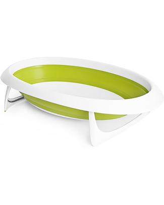 Boon Inc. NAKED Vaschetta Bagno 2 Posizioni - Verde (design pieghevole salvaspazio) Vaschette