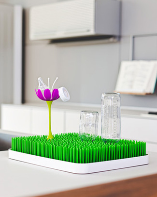 Boon Inc. STEM Fiore scola biberon per Grass - Magenta & Bianco (senza BPA, PVC e Ftalati!) Scola Biberon