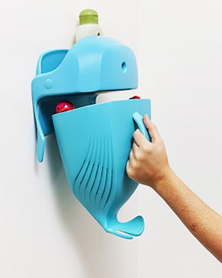 Boon Inc. WHALE POD Contenitore Portagiochi da Bagno - Azzurro (senza BPA, PVC e Ftalati!) Giochi Bagno