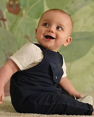 Botanica Boo Salopette Estiva con Pantaloni Lunghi, Blu  - Cotone Bio Salopette