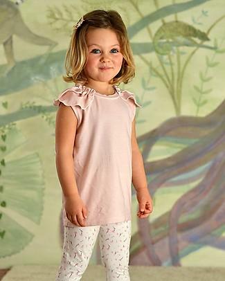 Botanica Boo T-Shirt Bimba Con Voillant, Rosa - Cotone Bio Cerimonia