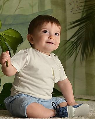 Botanica Boo T-shirt con Taschino, Latte - Cotone Bio T-Shirt e Canotte