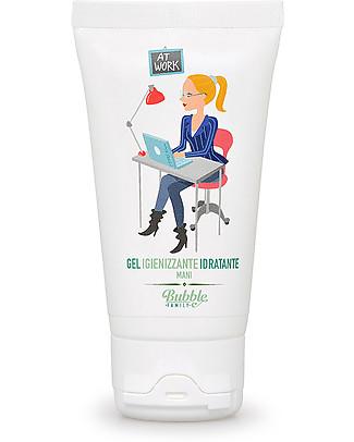 Bubble&CO Igienizzante Idratante Mani, At Work, 50 ml – Perfetto per le pelli delicate! Salviette