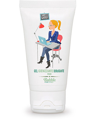 Bubble&CO Igienizzante Idratante Mani, At Work, 50 ml - Perfetto per le pelli delicate! Salviette
