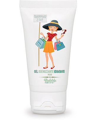 Bubble&CO Igienizzante Idratante Mani, Shopping, 50 ml - Perfetto per le pelli delicate! Salviette