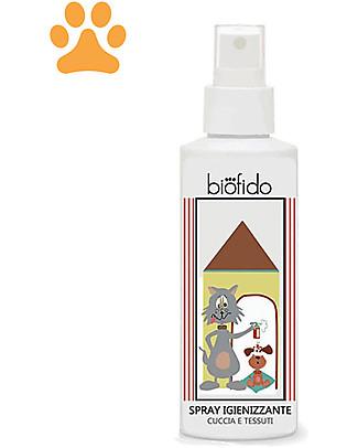 Bubble&CO Spray Animali Biofido, 150 ml - Igienizza Cucce e Tessuti Animali Igiene