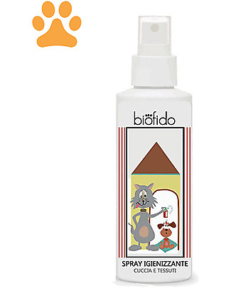 Bubble&CO Spray Animali Biofido, 150 ml - Igienizza Cucce e Tessuti Animali Igiene