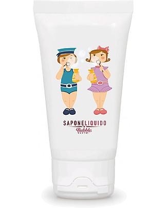 Bubble Family Sapone Liquido Baby, Minitaglia 50 ml - Lenitivo e antibatterico Bagno Doccia Shampoo