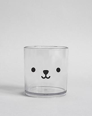Buddy and Bear Bicchiere in Plastica Trasparente, Bear – Senza BPA! Tazze e Bicchieri