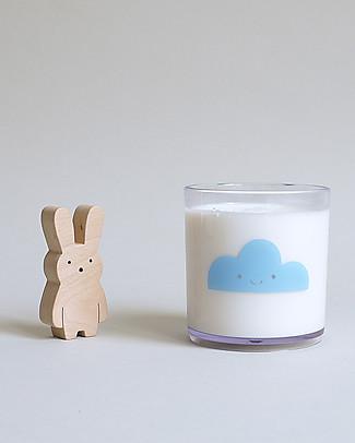 Buddy and Bear Bicchiere in Plastica Trasparente, Happy Clouds, Celeste – Senza BPA! Tazze e Bicchieri