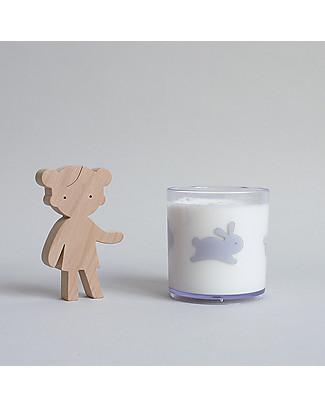 Buddy and Bear Bicchiere in Plastica Trasparente, Hoppy Bunny – Senza BPA! Tazze e Bicchieri