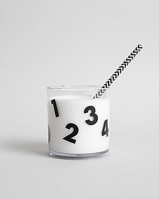 Buddy and Bear Bicchiere in Plastica Trasparente, Numeri – Senza BPA! Tazze e Bicchieri