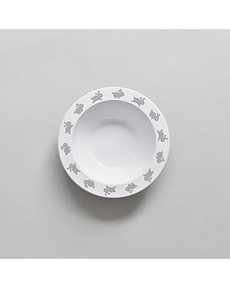 Buddy and Bear Ciotola in Plastica, Coniglietto – 17 cm diametro, senza BPA! Piatti e Scodelle